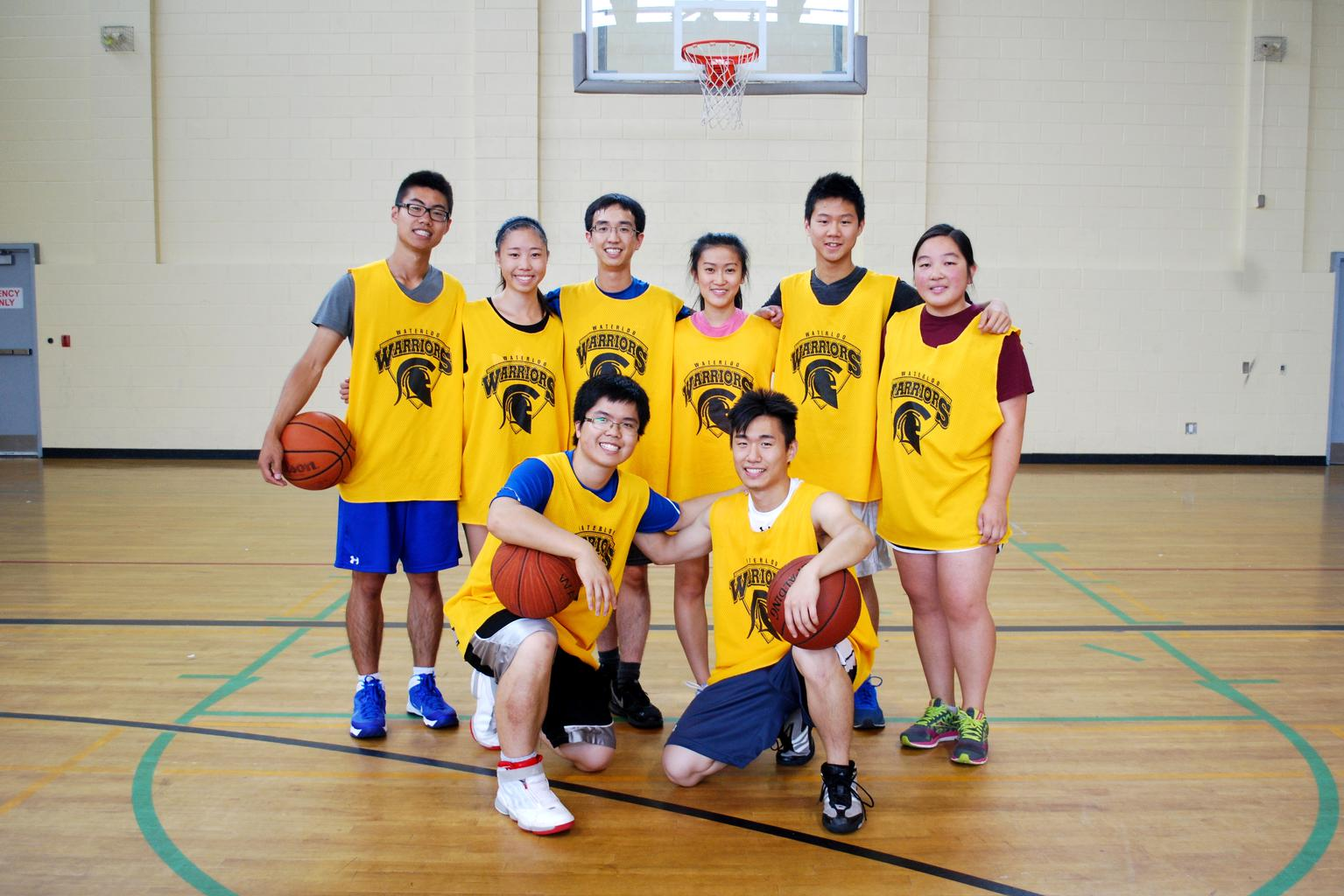 Intramural basketball team picture